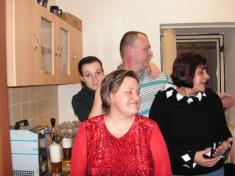Předvánoční večírek pro důchodce.