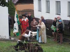 750 let - Svěcení praporu a lípy